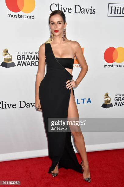 Model Agueda Lopez attends the Clive Davis and Recording Academy PreGRAMMY Gala and GRAMMY Salute to Industry Icons Honoring JayZ on January 27 2018...