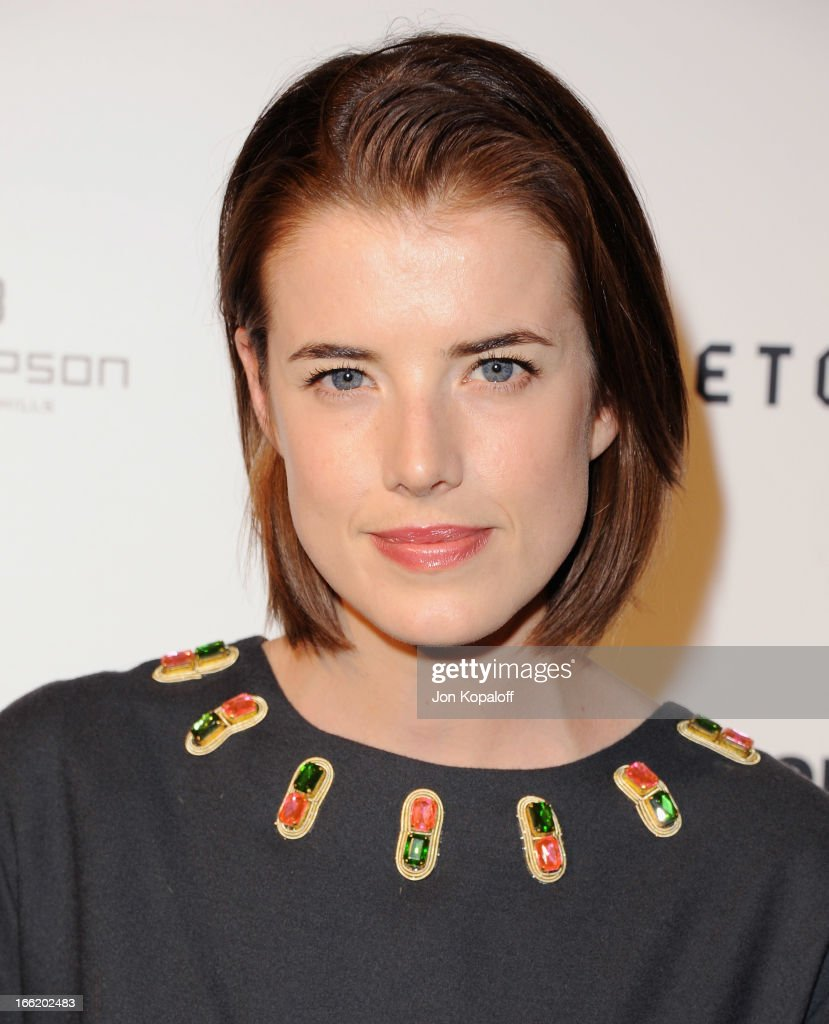 Model Agyness Deyn arrives at the British Fashion Council Celebrates 'London Show Rooms LA' at Thompson Hotel on April 9, 2013 in Beverly Hills, California.