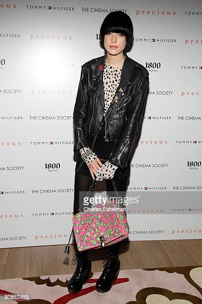 Model Agyness Deyn attends a screening of Precious hosted by the Cinema Society Tommy Hilfiger at the Crosby Street Hotel on November 5 2009 in New...