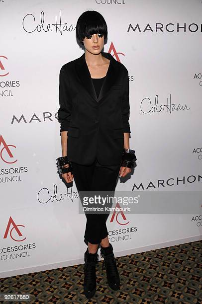 Model Agyness Deyn attends the 13th Annual 2009 ACE Awards presented by the Accessories Council at Cipriani 42nd Street on November 2 2009 in New...