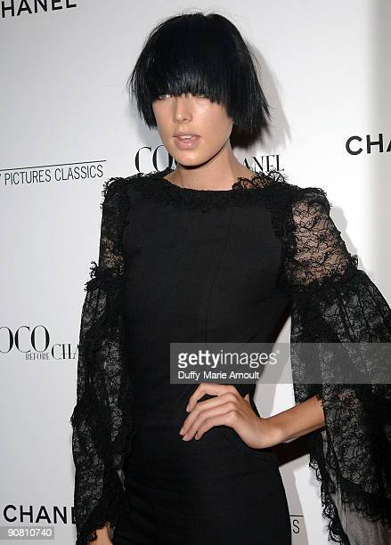 "Model Agyness Deyn attends the ""Coco Before Chanel"" New York Premiere at the Paris Theatre on September 15, 2009 in New York City."