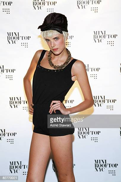 """Model Agyness Deyn attends the """"Mini Rooftop NYC"""" Hosts V Magazine Celebration at One Space on September 10, 2008 in New York City"""