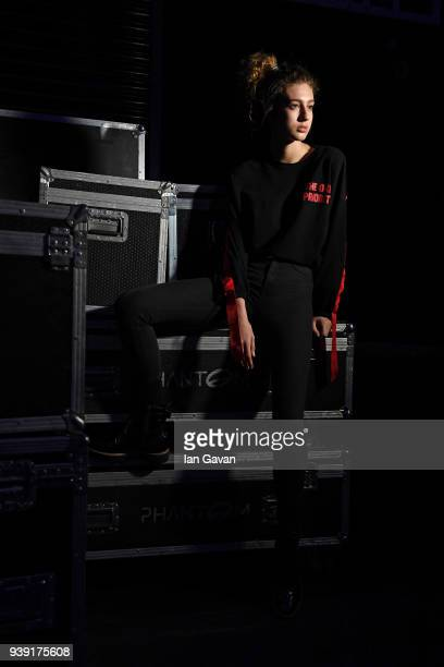 A model ahead of the DB Berdan show during Mercedes Benz Fashion Week Istanbul at Zorlu Center on March 28 2018 in Istanbul Turkey