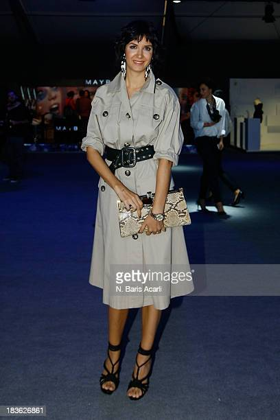 Model Ahu Yagtu attends MercedesBenz Fashion Week Istanbul s/s 2014 presented by American Express on October 7 2013 in Istanbul Turkey
