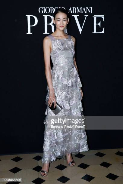 Model Ai Tominaga attends the Giorgio Armani Prive Haute Couture Spring Summer 2019 show as part of Paris Fashion Week on January 22 2019 in Paris...