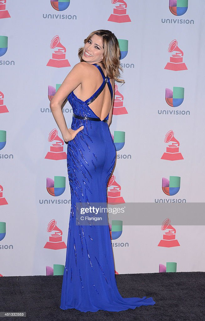 Model Aida Yespica poses backstage during The 14th Annual Latin GRAMMY Awards at the Mandalay Bay Events Center on November 21, 2013 in Las Vegas, Nevada.