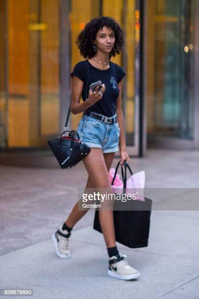Model Aiden Curtis is seen going to fittings for the 2017 Victoria's Secret Fashion Show in Midtown on August 26 2017 in New York City