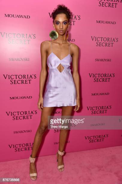 Model Aiden Curtiss attends the 2017 Victoria's Secret Fashion Show In Shanghai After Party at MercedesBenz Arena on November 20 2017 in Shanghai...
