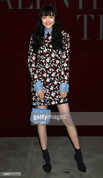 Model Airi Matsui attends the photocall for Valentino TKY 2019 Pre-Fall Collection at Terada Warehouse on November 27, 2018 in Tokyo, Japan.