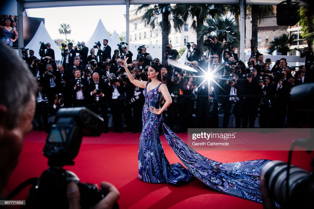 Model Aishwarya Rai attends the screening of `Girls Of The Sun ` during the 71st annual Cannes Film Festival at on May 12 2018 in Cannes France