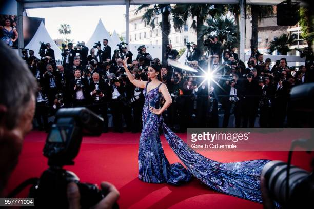 Model Aishwarya Rai attends the screening of 'Girls Of The Sun ' during the 71st annual Cannes Film Festival at on May 12 2018 in Cannes France