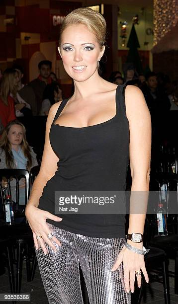 Model Aisleyne HorganWallace attends the opening of the new Ed Hardy store at Westfield on December 1 2009 in London England
