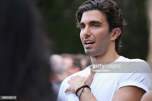 Model Akin Akman attends Daily Front Row's 'Luxury and Love' party at Inn at Windmill Lane on August 20 2016 in Amagansett New York