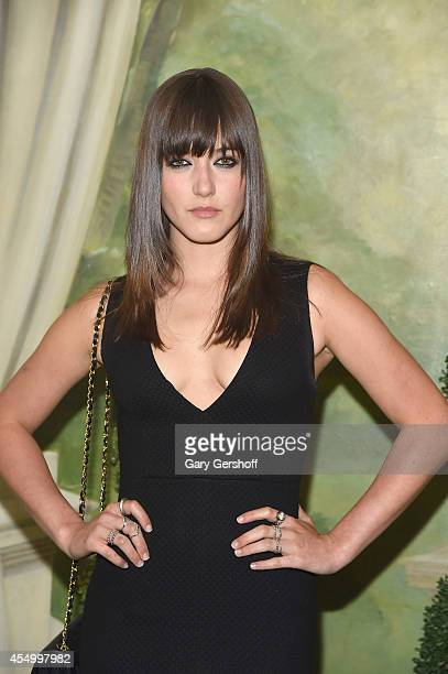 Model Alaia Baldwin attends the Alice Olivia By Stacey Bendet presentation during MercedesBenz Fashion Week Spring 2015 at The Pierre Hotel on...