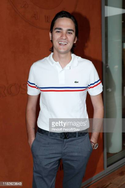Model AlainFabien Delon attends the 2019 French Tennis Open Day Five at Roland Garros on May 30 2019 in Paris France