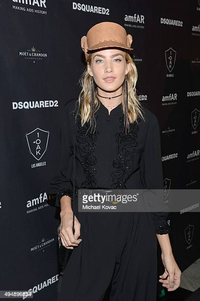 Model Alana Greszata attends DSQUARED2 And amfAR's Official After Party at 1OAK on October 29 2015 in West Hollywood California