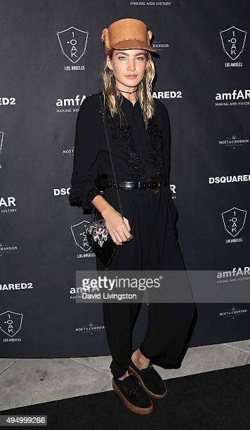 Model Alana Greszata attends the amfAR's Inspiration Gala Los Angeles after party at 1OAK on October 29 2015 in West Hollywood California