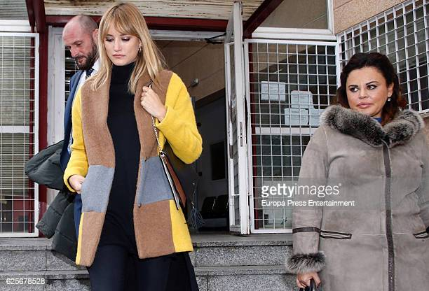 Model Alba Carrillo and her lawyer Teresa Bueyes attend court for their divorce on November 24 2016 in Madrid Spain