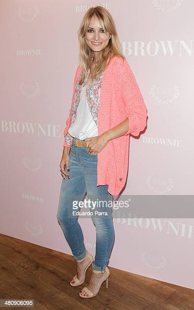 Model Alba Carrillo attends Brownie shop opening party photocall at Brownie store on March 27 2014 in Madrid Spain