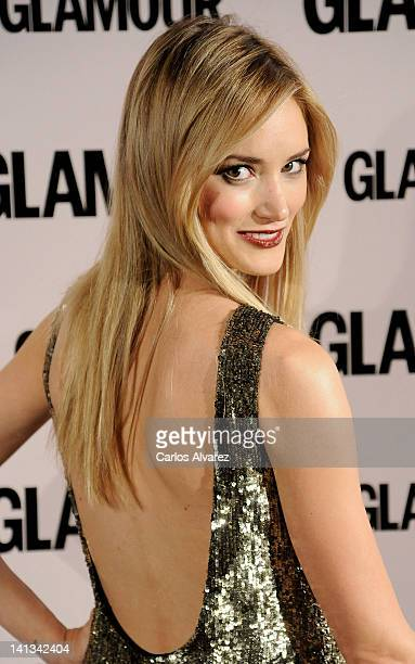 Model Alba Carrillo attends Glamour beauty awards 2012 at Pacha Club on March 14 2012 in Madrid Spain