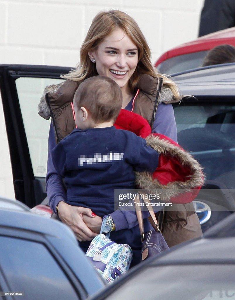 Feliciano Lopez and Alba Carrillo Sighting In Madrid - February 13, 2013