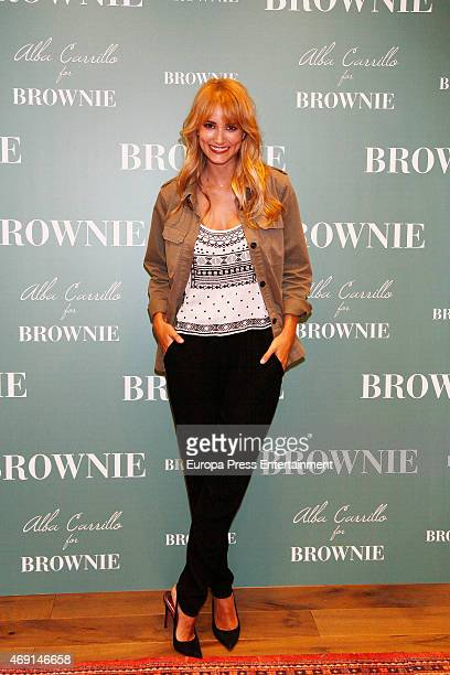 Model Alba Carrillo is the new ambassador for Brownie clothes new collection on April 9 2015 in Madrid Spain