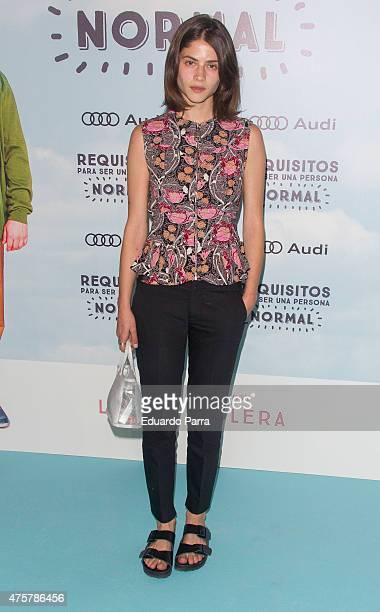 Model Alba Galocha attends 'Requisitos para ser una persona normal' premiere at Palafox cinema on June 3 2015 in Madrid Spain
