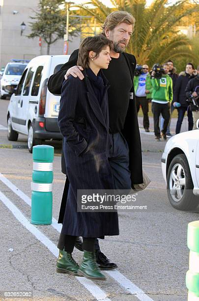 Model Alba Galocha attends the funeral chapel for Bimba Bose on January 24 2017 in Madrid Spain Bimba Bose Died in Madrid at the age of 41 years old...