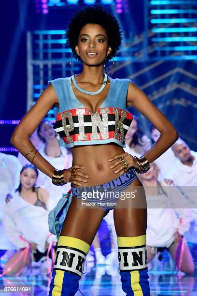 Model Alecia Morais walks the runway during the 2017 Victoria's Secret Fashion Show In Shanghai at MercedesBenz Arena on November 20 2017 in Shanghai...