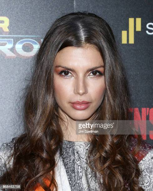 Model Alejandra Cata attends the screening of Marvel Studios' 'Thor Ragnarok' hosted by The Cinema Society with FIJI Water Men's Journal and...