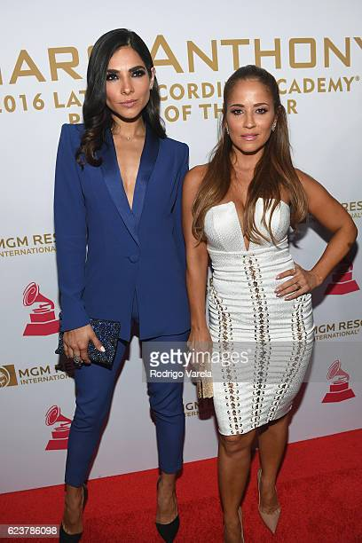Model Alejandra Espinoza and TV personality Jackie Guerrido attend the 2016 Person of the Year honoring Marc Anthony at the MGM Grand Garden Arena on...