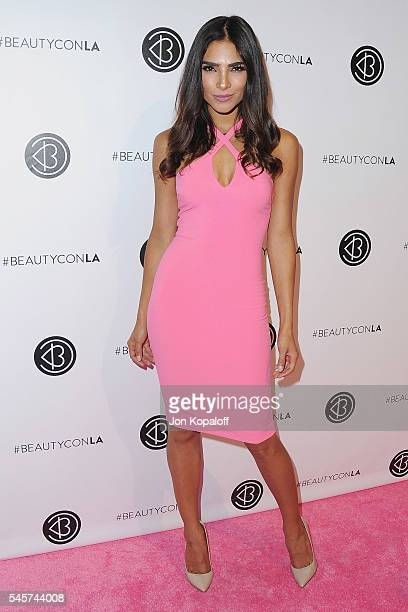 Model Alejandra Espinoza arrives at the 4th Annual Beautycon Festival Los Angeles at Los Angeles Convention Center on July 9 2016 in Los Angeles...