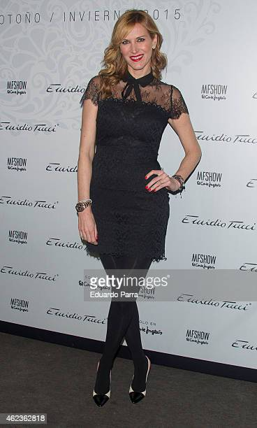 Model Alejandra Prat attends Emidio Tucci fashion show photocall at Price circus on January 27 2015 in Madrid Spain