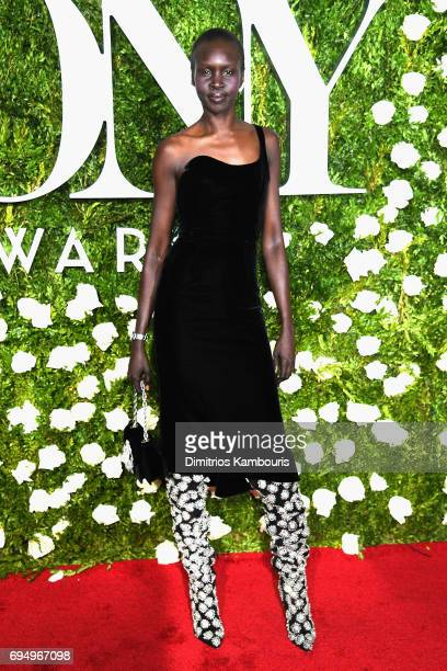 Model Alek Wek attends the 2017 Tony Awards at Radio City Music Hall on June 11 2017 in New York City