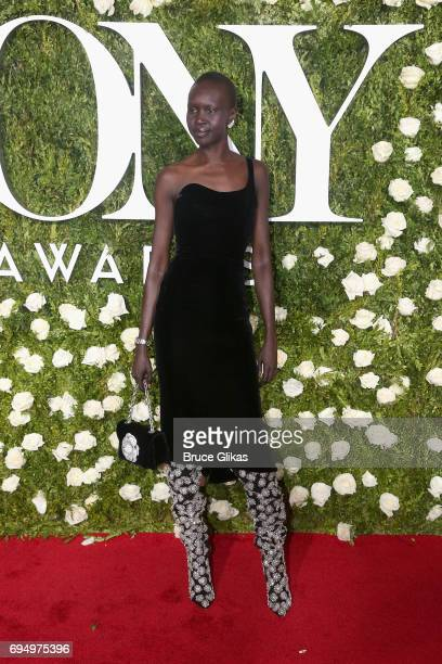 Model Alek Wek attends the 71st Annual Tony Awards at Radio City Music Hall on June 11 2017 in New York City