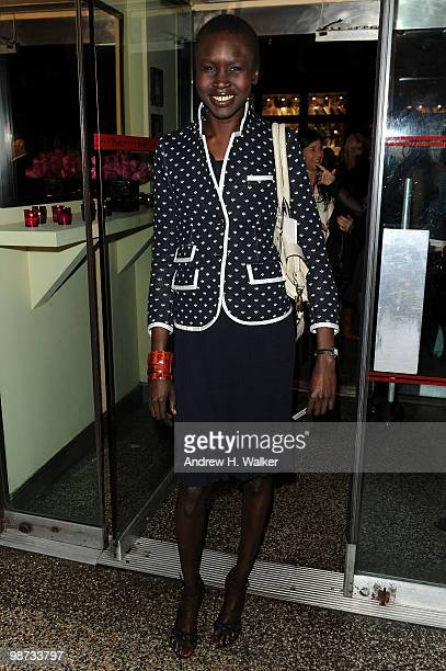 Model Alek Wek attends the CHANEL Tribeca Film Festival Dinner in support of the Tribeca Film Festival Artists Awards Program at Odeon on April 28...
