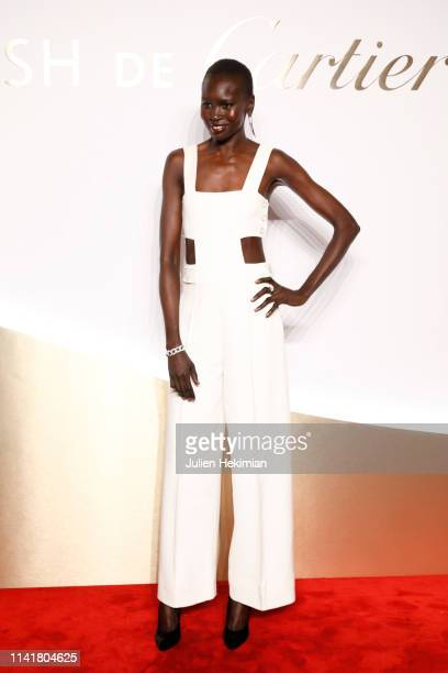 Model Alek Wek attends the 'Clash De Cartier' Launch Photocall At La Conciergerie In Paris on April 10 2019 in Paris France