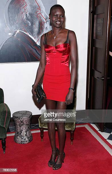 Model Alek Wek attends the Dolce Gabbana's The One Fragrance Launch and Private Dinner at The Grammercy Park Hotel on december 4 2007 in New York City