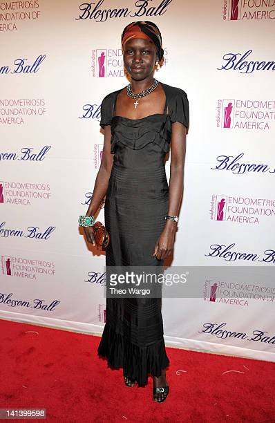 Model Alek Wek attends the Endometriosis Foundation of America's 4th Annual Blossom Ball at The New York Public Library Stephen A Schwarzman Building...
