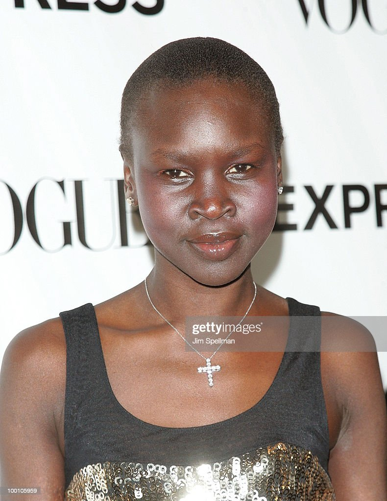 Model Alek Wek attends the EXPRESS 30th anniversary party at Eyebeam on May 20, 2010 in New York City.