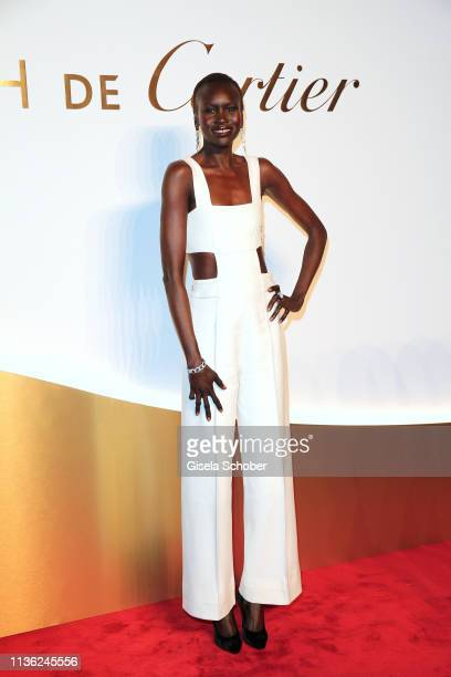 Model Alek Wek during the Clash de Cartier event at la Conciergerie on April 10 2019 in Paris France