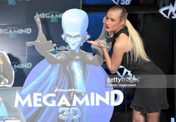 Model Alena Gerber attends the German Premiere of Megamind at the BMWWelt on November 21 2010 in Munich Germany