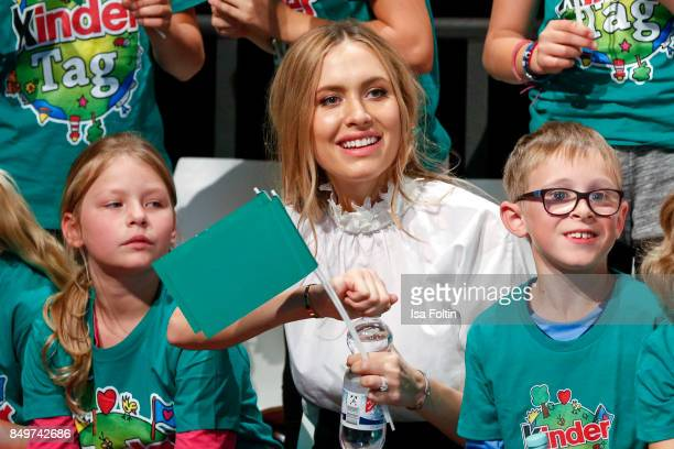 Model Alena Gerber during the KinderTag to celebrate children's day on September 19 2017 in Berlin Germany