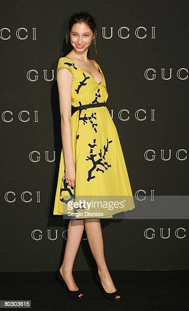 Model Alessandra Agostini attends the launch for the Gucci Spring Summer 2008 Collection on March 19 2008 in Sydney Australia
