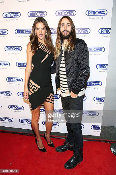 Model Alessandra Ambrosio and actor Jared Leto attend Rimowa NYC Store Grand Opening at Rimowa on October 28, 2014 in New York City.