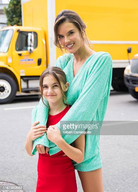 Model Alessandra Ambrosio and daughter Anja Louise Ambrosio Mazur are seen arriving to S by Serena Williams Fashion Show during New York Fashion Week...