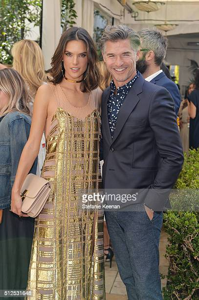 Model Alessandra Ambrosio and guest attend NETAPORTER Celebrates Women Behind The Lens at Chateau Marmont on February 26 2016 in Los Angeles...