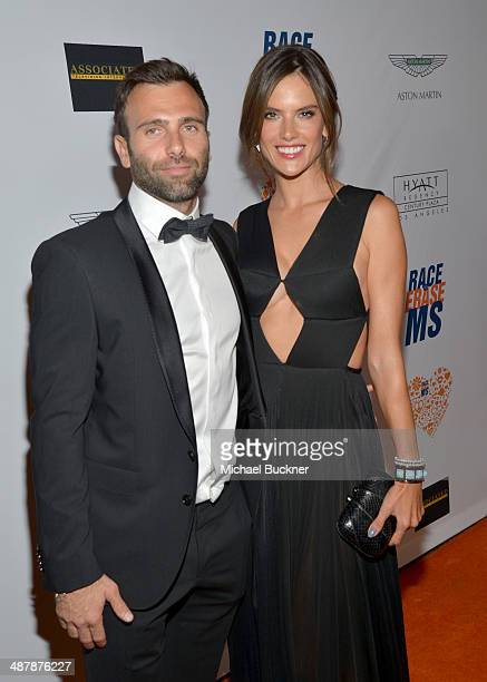 Model Alessandra Ambrosio and Jamie Mazur attend the 21st annual Race to Erase MS at the Hyatt Regency Century Plaza on May 2 2014 in Century City...