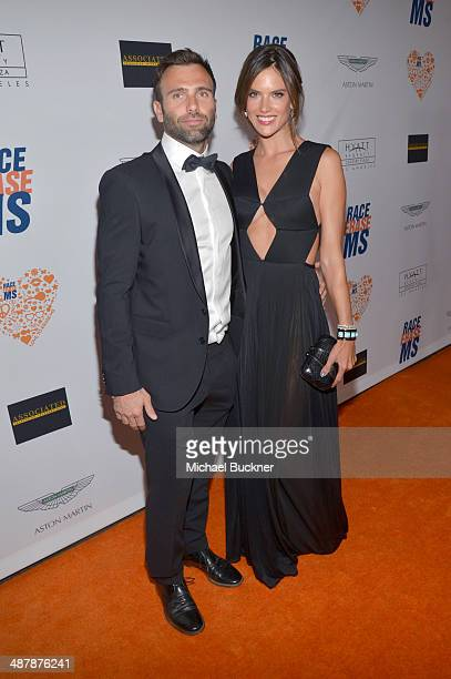 Model Alessandra Ambrosio and Jamie Mazur attend the 21st annual Race to Erase MS at the Hyatt Regency Century Plaza on May 2, 2014 in Century City,...