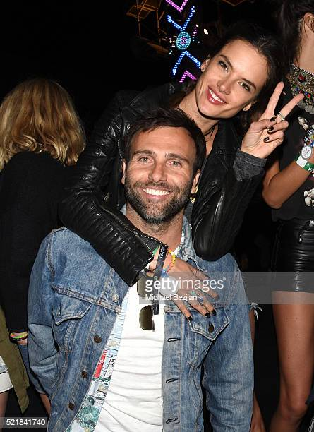 Model Alessandra Ambrosio and Jamie Mazur attend the Levi's Brand and RE/DONE Levi's presents NEON CARNIVAL with Tequila Don Julio on April 16 2016...